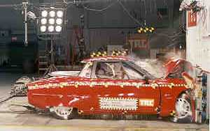 1998 GM EV1 2-DR. after frontal crash test