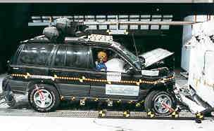 1998 Jeep Grand Cherokee 4-DR. 4x4 after frontal crash test