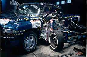 NCAP 2000 Dodge Dakota side crash test photo