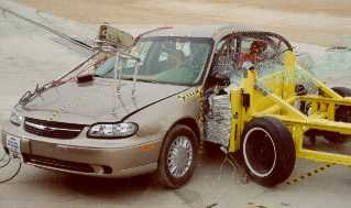 NCAP 2000 Chevrolet Malibu side crash test photo