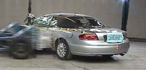 NCAP 2001 Chrysler Sebring side crash test photo