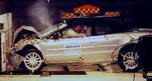 NCAP 2001 Chrysler Sebring front crash test photo