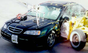 2001 Acura on 2001 Acura 3 2 Tl 4 Dr  W Sab After Side Crash Test