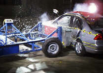 NCAP 2001 Honda Civic side crash test photo