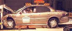NCAP 2002 Buick LeSabre front crash test photo