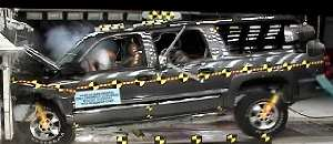 NCAP 2002 Chevrolet Suburban front crash test photo