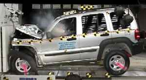 NCAP 2002 Jeep Liberty front crash test photo