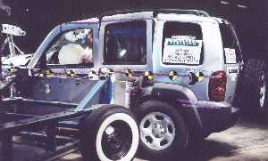 NCAP 2002 Jeep Liberty side crash test photo