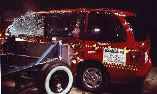 NCAP 2002 Mazda MPV side crash test photo