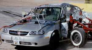 NCAP 2002 Chevrolet Malibu side crash test photo