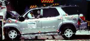 NCAP 2002 Toyota Sequoia front crash test photo