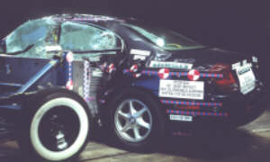 NCAP 2002 Oldsmobile Aurora side crash test photo