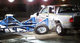 NCAP 2002 Dodge Dakota side crash test photo