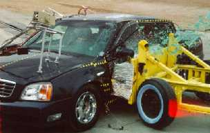 NCAP 2002 Cadillac DeVille side crash test photo