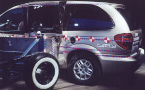 NCAP 2002 Dodge Grand Caravan side crash test photo