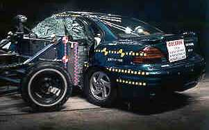 NCAP 2002 Pontiac Grand Am side crash test photo