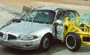 NCAP 2002 Buick LeSabre side crash test photo