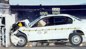 NCAP 2002 Chevrolet Malibu front crash test photo