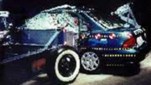 NCAP 2002 Nissan Sentra side crash test photo