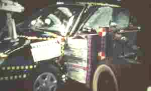 2003 Hyundai Accent  (Later Release) 4-DR. after side crash test