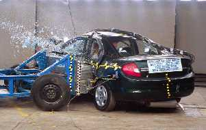 NCAP 2003 Dodge Neon side crash test photo