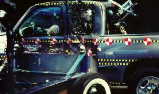 NCAP 2003 Toyota Tundra side crash test photo