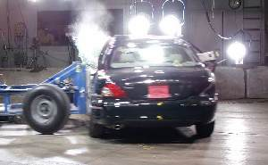 2004 Jaguar X-Type 4-DR. w/SAB after side crash test