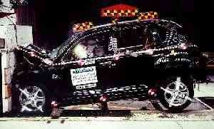 NCAP 2004 Chrysler PT Cruiser front crash test photo