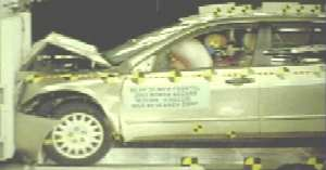 NCAP 2005 Honda Accord front crash test photo