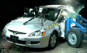 NCAP 2005 Honda Accord side crash test photo