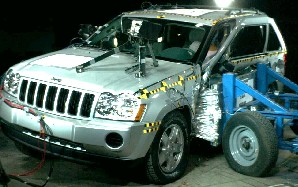 2005 Jeep Grand Cherokee 4-DR. after side crash test