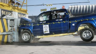 2005 Toyota Tundra 4-DR. after frontal crash test