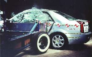 NCAP 2005 Cadillac CTS side crash test photo