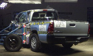 2006 Toyota Tacoma Regular Cab after side crash test