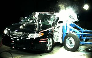 2006 Saab 9-2X Wagon 4-DR. w/SAB after side crash test