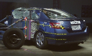 NCAP 2006 Honda Civic side crash test photo