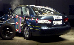 NCAP 2006 Hyundai Sonata side crash test photo