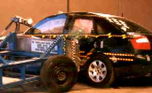 NCAP 2006 Audi A4 side crash test photo
