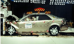 NCAP 2006 Cadillac CTS front crash test photo