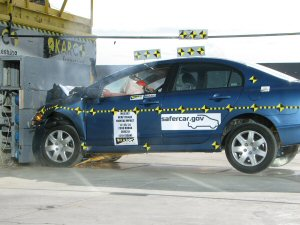 NCAP 2007 Honda Civic front crash test photo