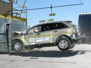 NCAP 2007 Ford Edge front crash test photo