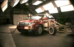 NCAP 2007 Ford Edge side crash test photo
