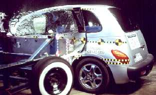 NCAP 2007 Chrysler PT Cruiser side crash test photo