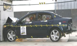 2008 Acura TL 4-DR. w/SAB after frontal crash test