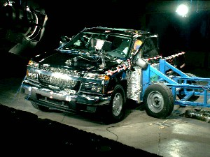 NCAP 2008 Chevrolet Colorado side crash test photo