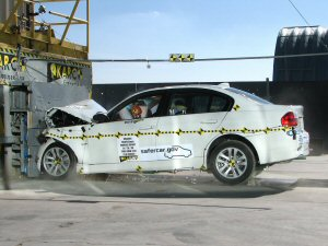 2008 BMW 3 Series 4-DR. w/SAB after frontal crash test