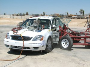 NCAP 2008 Ford Taurus side crash test photo