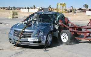 NCAP 2008 Cadillac CTS side crash test photo