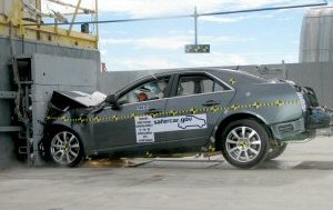 NCAP 2008 Cadillac CTS front crash test photo