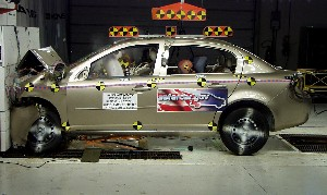 NCAP 2009 Chevrolet Cobalt front crash test photo